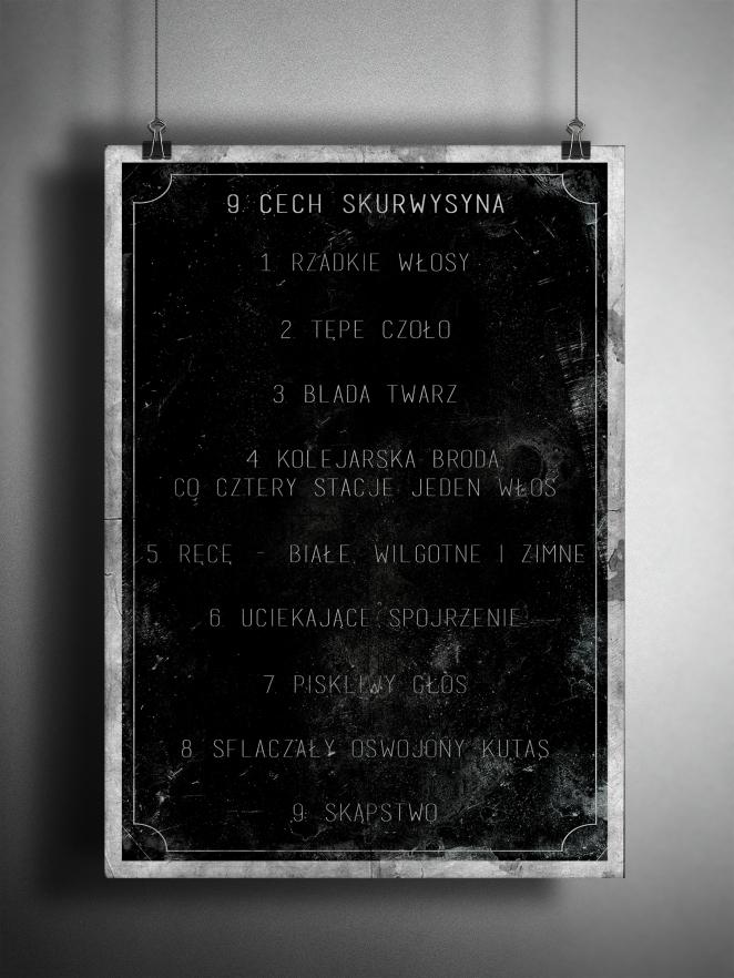 9cech skurwysyna-plakat